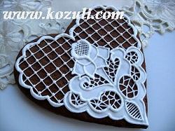 Роспись пряников глазурью (айсингом). Имбирное печенье, имбирные пряники с имитацией вышивки ришелье