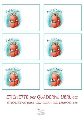 Etiquetas para libros y cuadernos