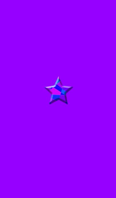 Star purple button