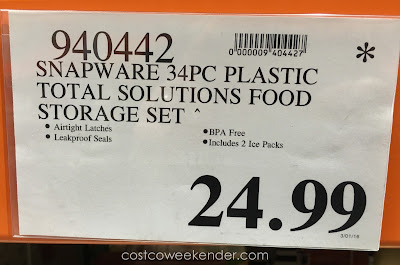 Deal for the Snapware Total Solution Plastic Food Keeper Set at Costco
