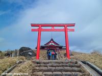 templo del mirador al monte Fuji