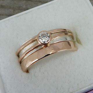 moissanite rose gold wedding rings