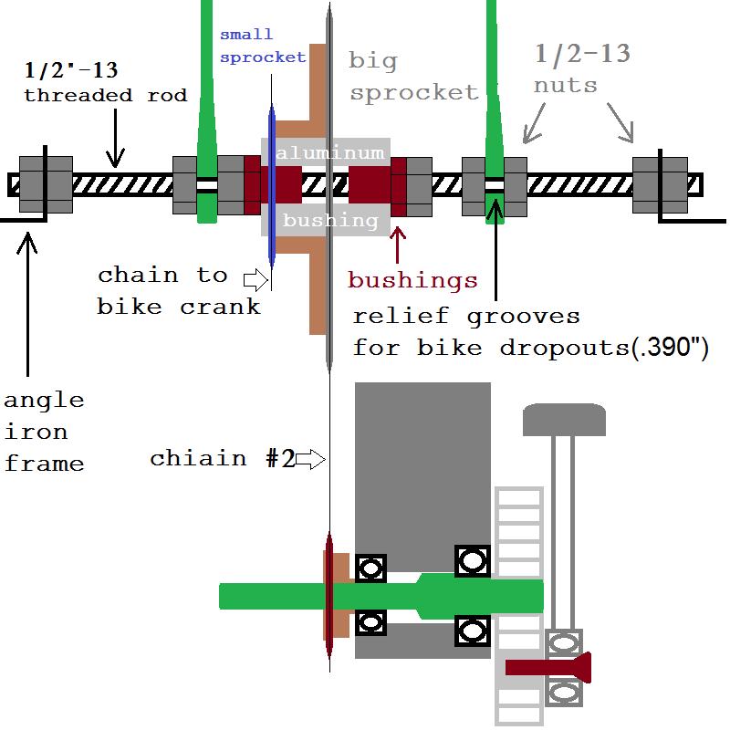complete diagram of bicycle compressor conversion
