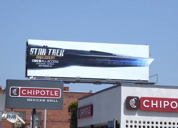 Star Trek Discovery extension billboard