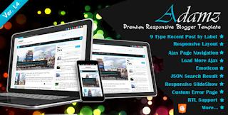 Adamz Responsive Blogger Template