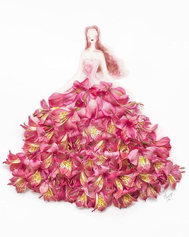Nuevas ilustraciones híbridas de flores y moda por Limzy