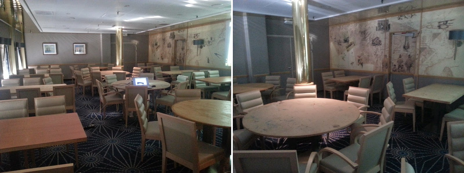 On Board Voyages of Discovery's Cruise Ship MV Voyager - Dining Room