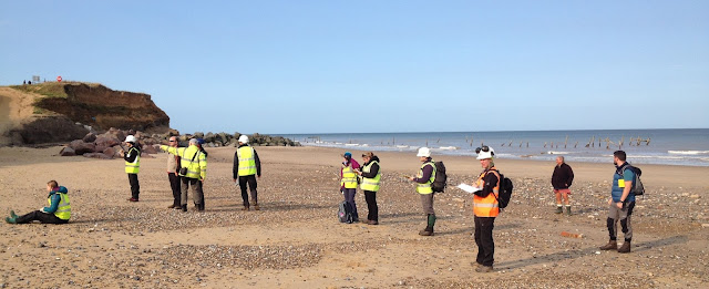 "Starting the cliff section at Happisburgh, ""draw what you see...."""