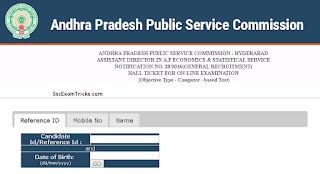 APPSC Assistant Director admit card