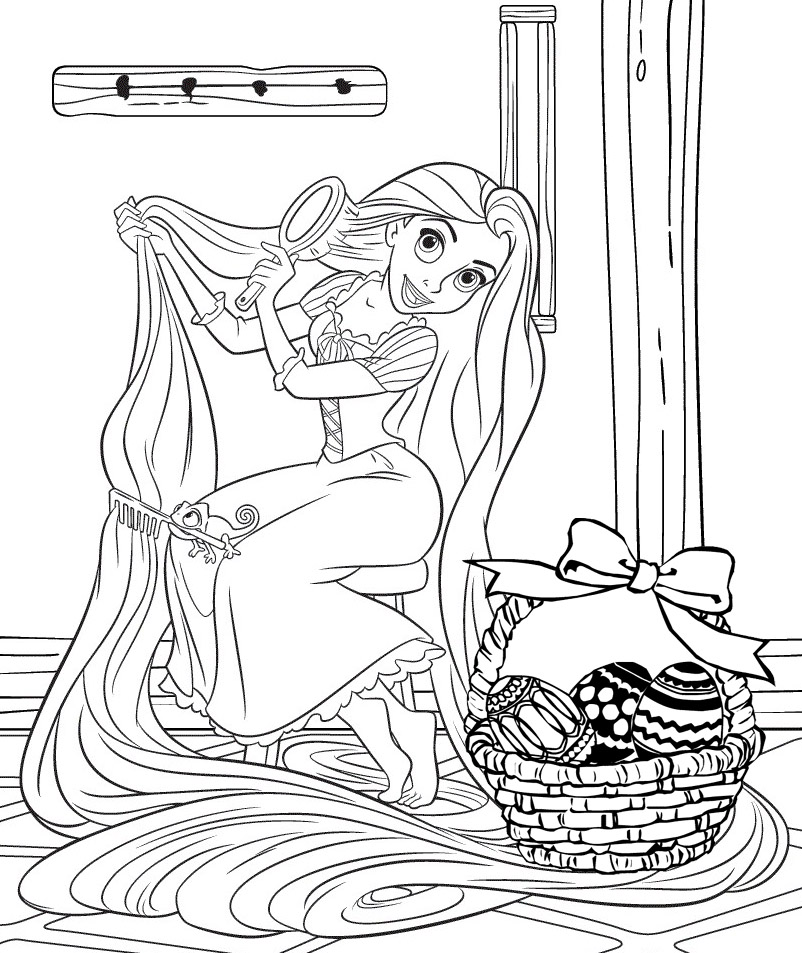 PRINCESS COLORING PAGES | printable disney princess easter coloring pages
