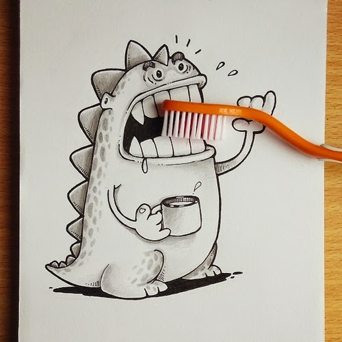 11-Brush-your-Teeth-Manik-N-Ratan-maniknratan-Cartoon-Drawings-www-designstack-co