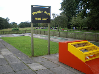 Miniature Railway and Crazy Golf course at Worden Park in Leyland