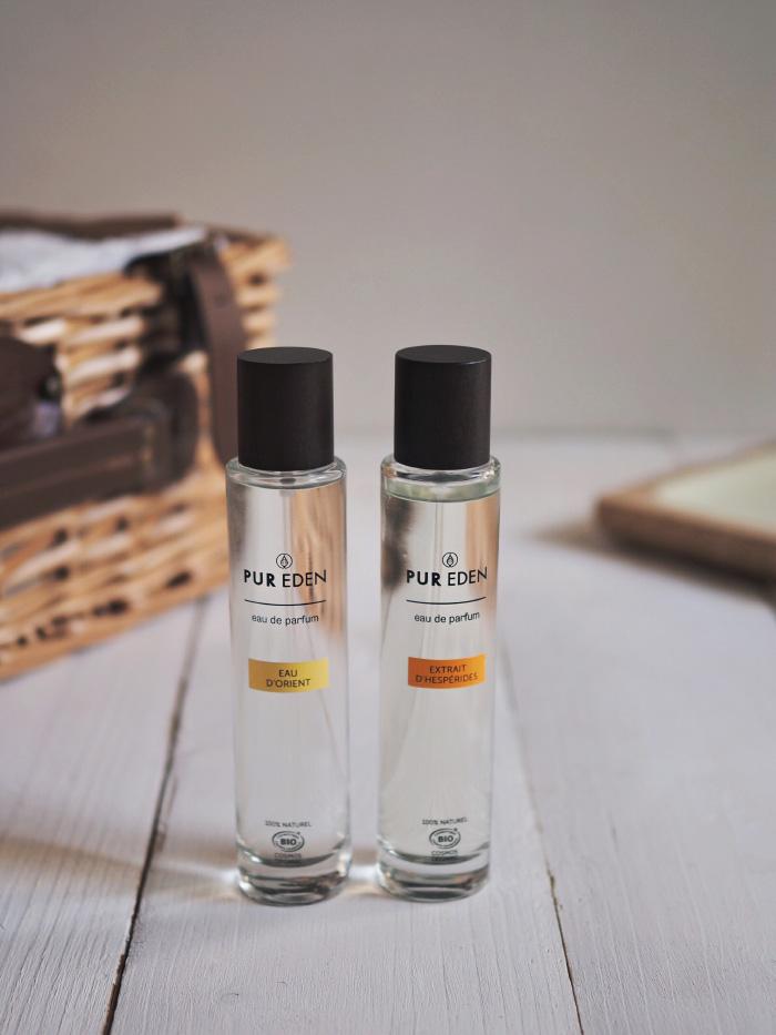 Eaux de parfums bio de la marque Pur Eden