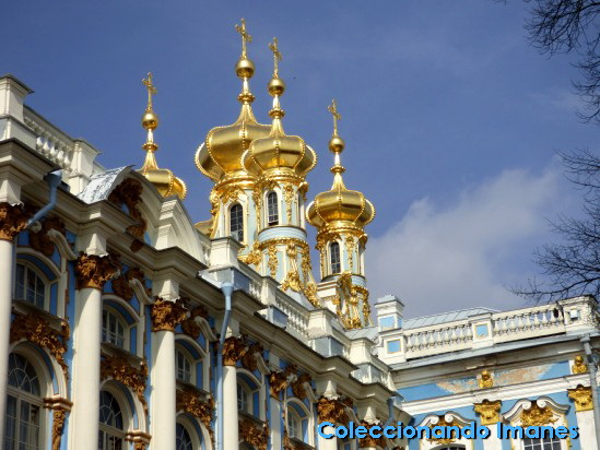 Cúpulas Palacio de Catalina en Pushkin