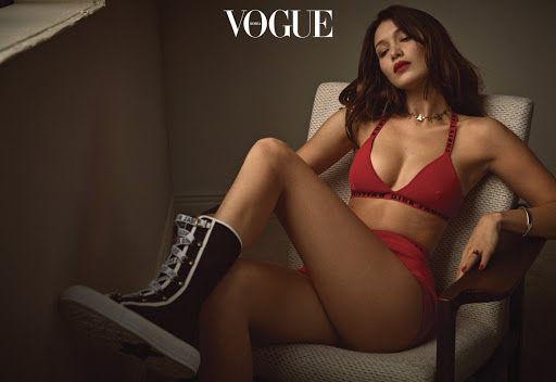 Bella Hadid photo shoot Vogue Korea magazine January 2018