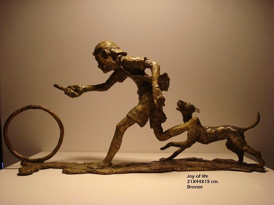 Joy of Life - I, bronze sculpture by Mukund Ketkar (part of his portfolio on www.indiaart.com)