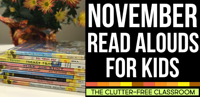 November books for kids will give first grade, second grade, and third grade teachers ideas for lessons, crafts and art projects for the fall /aumtum. In addition to November read aloud book suggestions, you see reading graphic organizers, free printable resources and lots of November activities. Kindergarten, fourth grade, fifth grade, and of course a homeschool will love this too..         ""