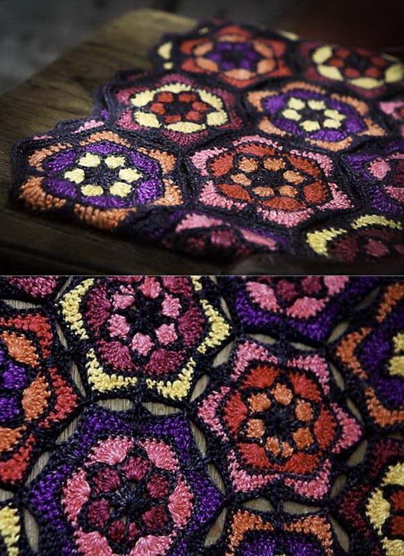 Crochet Hexagon motif