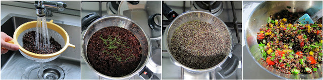 steamed quinoa in fissler pressure cooker