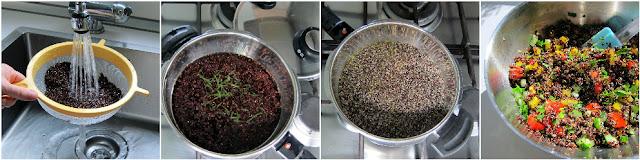 steamed quinoa in fissler pressure cooker