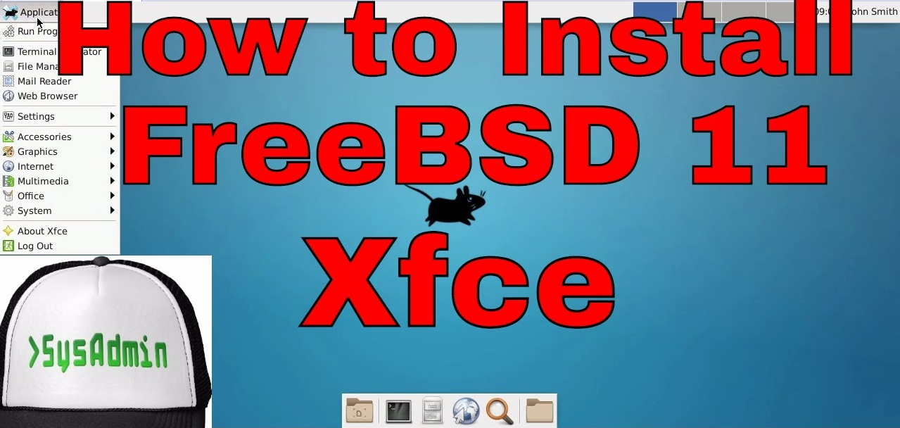 How to Install FreeBSD 11 XFCE Desktop and Review on VMware