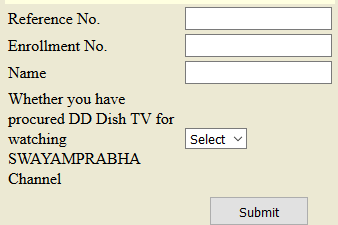 Process to Add DD Dish TV Details in NIOS website