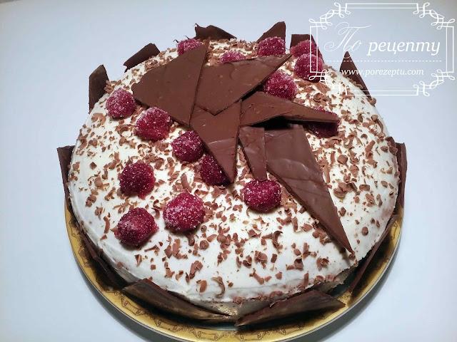торт шоколад вишня