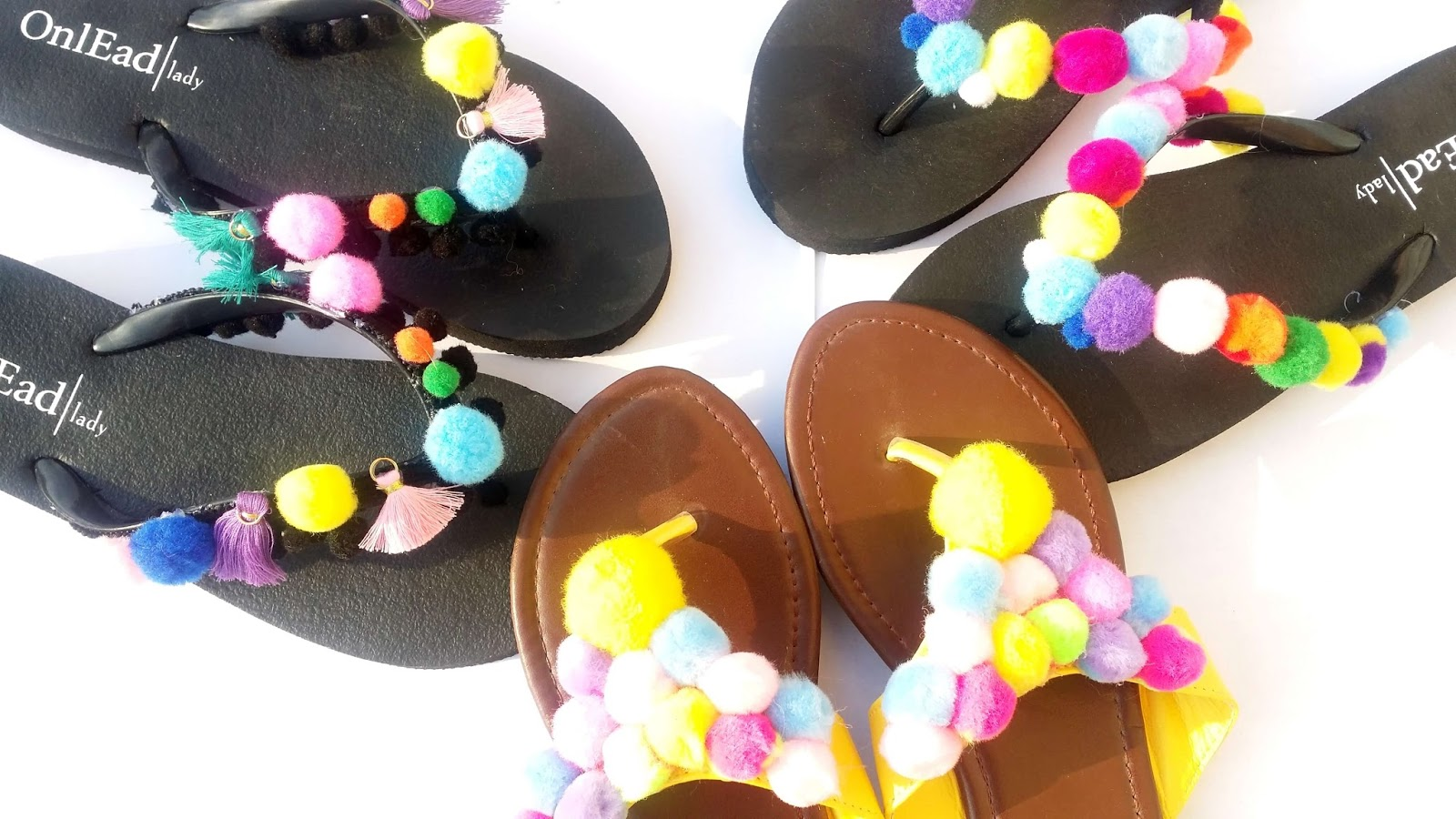Do it yourself the most beautiful sandals for the beach for Do it yourself pom poms