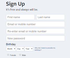 How to sign up for Facebook.com