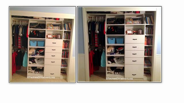 sons closet makeover
