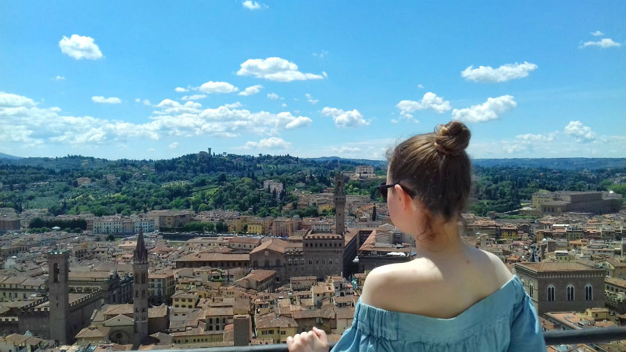 Admiring the views in Florence