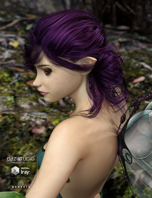 Alieta Spryte Hair for Genesis 2 - Genesis 3 Female