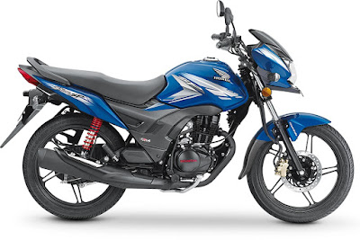 2017 Honda CB Shine SP blue side image