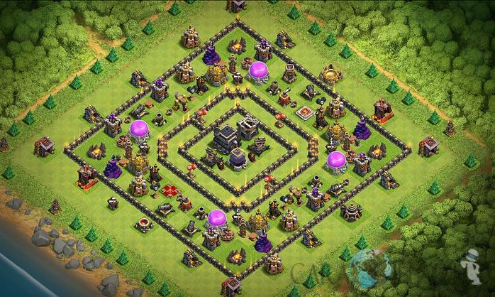 Base Trophy TH 9 Clash Of Clans Terbaru Tipe 8