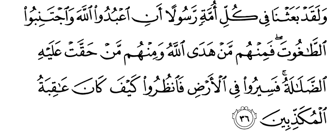 Surat An Nahl Ayat 36