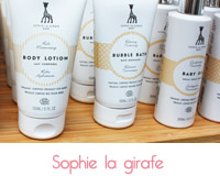 gamme bio sophie la girafe