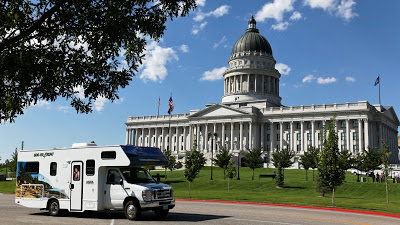 Cruise America motorhome i Salt Lake City