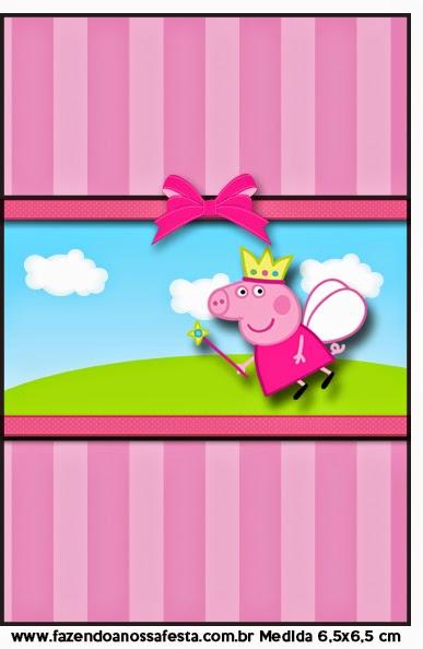 Etiqueta de Peppa Pig  para imprimir gratis