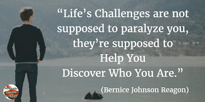 "71 Quotes About Life Being Hard But Getting Through It: ""Life's challenges are not supposed to paralyze you, they're supposed to help you discover who you are."" - Bernice Johnson Reagon"