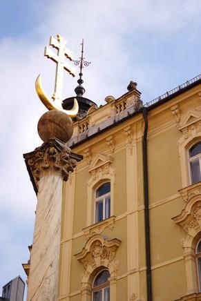 autriche klagenfurt carinthie alter platz colonne trinité