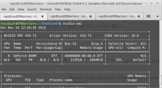 Through my Memory Lane  !: Install CUDA 10 on Linux mint 19