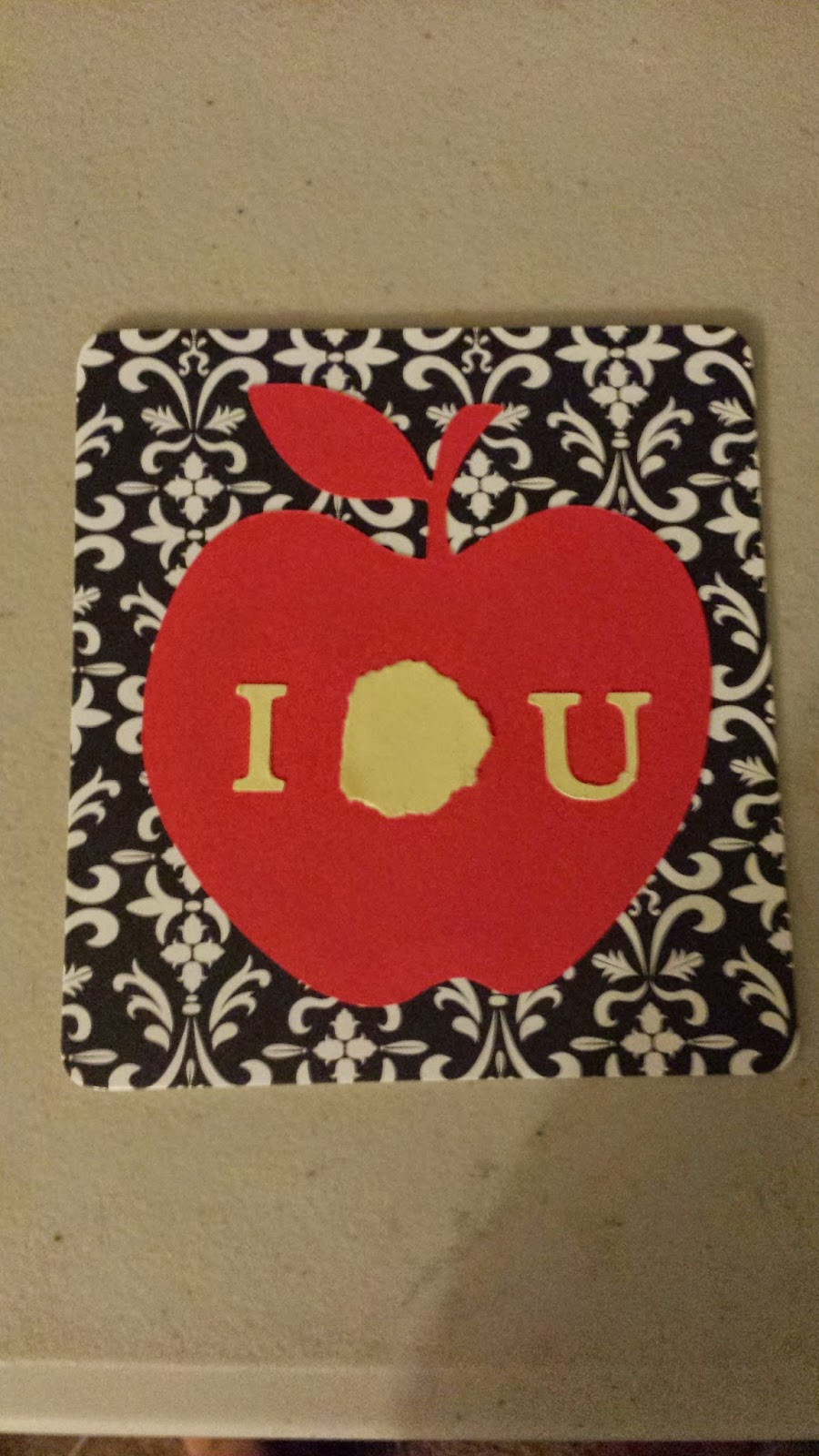 """I O U"" Apple hand fan base for BBC Sherlock themed party favor"