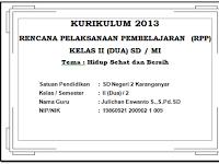 RPP KELAS 2 SEMESTER 2 KURIKULUM 2013 REVISI 2017