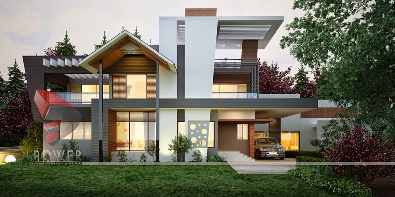 Ultra modern home designs home designs home exterior for Big modern house plans