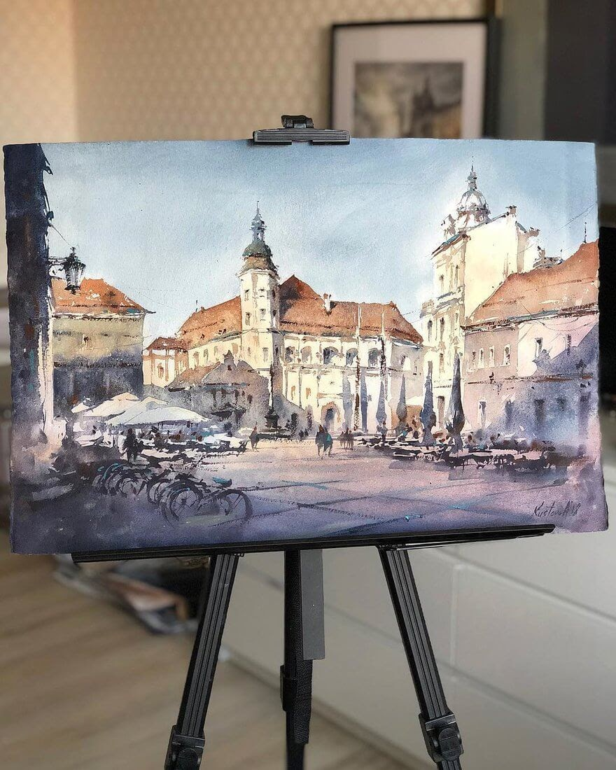 07-Maribor-Slovenia-Anastasia-Kústova-Architectural-Watercolor-Paintings-En-Plein-Air-www-designstack-co