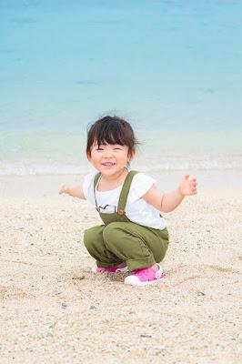 沖縄 家族旅行 写真撮影 ビーチ