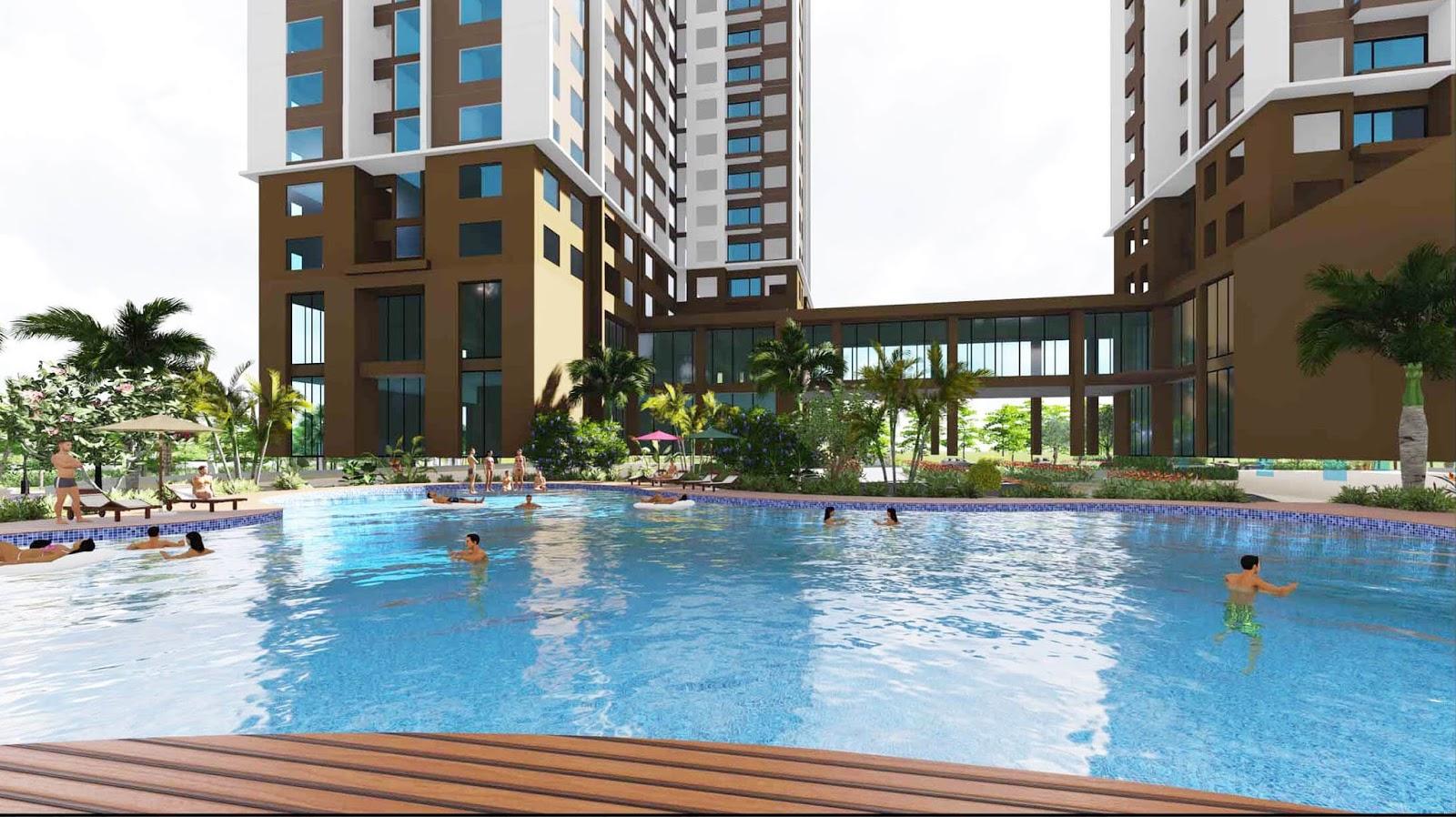 Tiện ích bể bơi cao cấp tại dự án chung cư An Bình City