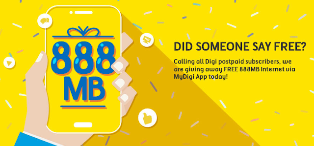 Digi Postpaid Subscriber Free Internet Data Promo