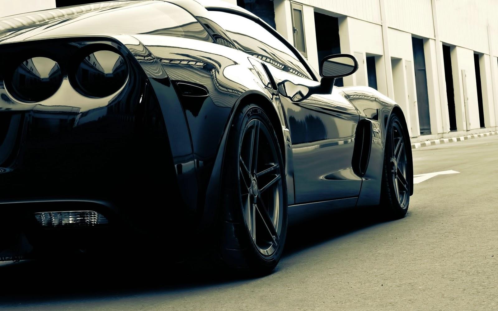 black corvette sport car hd wallpaper