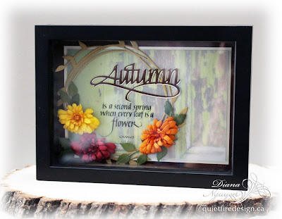 Diana Nguyen,Quietfire Design, Autumn, Spellbinders, Chrysanthemum, Elizabeth Craft Designs